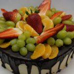 dort s čerstvým ovocem